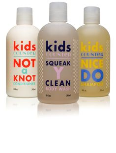 The Kidscounter Bath Collection is toxin-free and super gentle. Bonus: the shampoo smells like creamsicles.