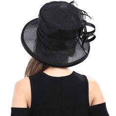 Vintage Kentucky Derby Hat Wide Brim Organza Hat Wedding Dress Hat Church Hat 05 | eBay