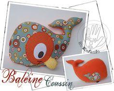 Baleine coussin pattern