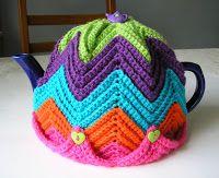 Justjen-knits&stitches: Justjen's Easy Ripple Tea Cosy