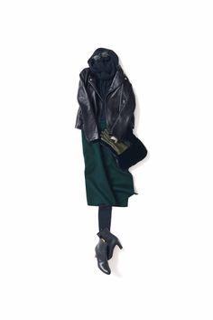 Coolness and elegance and vol. Daily Fashion, Love Fashion, Winter Fashion, Fashion Outfits, Womens Fashion, Fashion Trends, Japanese Minimalist Fashion, Wardrobe Sets, Fashion Capsule
