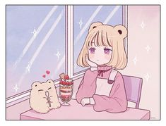 Shared by Namae Fumei. Find images and videos about girl, cute and anime on We Heart It - the app to get lost in what you love. Kawaii Anime, Arte Do Kawaii, Kawaii Art, Cartoon Kunst, Cartoon Art, Animes Wallpapers, Cute Wallpapers, Kawaii Drawings, Cute Drawings