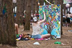 July 3, 2011 - The Electric Forest Music Festival in Rothbury,  Michigan. Photo: Joe Gall Artist: Julie Washabaugh