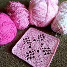 MES FAVORIS TRICOT-CROCHET: Tuto carré au crochet : Victorian Lattice Square