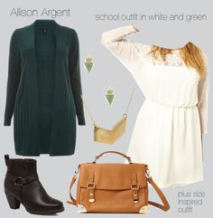 Allison Argent, school outfit in white and green