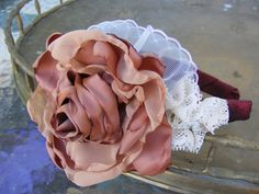 Ready to ship SALE Touch of Lace Headband by chickapeecreations, $15.95