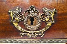 'Your uniqueness is the master key that unlocks the hidden treasures of your lifetime.' - Bryant McGill - -- - *a lock plate on an Empire style ormolu-mounted bureau. Bryant Mcgill, Master Key, Hidden Treasures, Empire Style, Door Handles, Plate, Beautiful, Door Knobs, Dishes