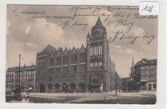 108, Königsberg Südseite des Postgebäudes gelaufen FP 1918 !