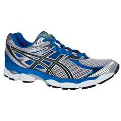 Asics Men's 4 Running Shoes Size: 6 D, Silver/Electric Blue/Black Cap Toe Shoes, On Shoes, Ballet Shoes, Stability Running Shoes, Best Running Shoes, Running Asics, Baskets, Asics Gt, Shops