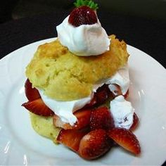 Summer Fruit Shortcakes Allrecipes.com  Strawberry individual shortcakes.