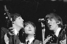 "https://flic.kr/p/514cKR | Paul McCartney, John Lennon and George Harrison performing in Wellington | Beatles Paul McCartney, John Lennon and George Harrison singing during their Wellington concert, 23 June 1964. Evening Post staff photographer Reference number: EP/1964/2083/37-F Black and white original negative The Dominion Post Collection, Alexander Turnbull Library.  <a href=""http://www.natlib.govt.nz/collections/highlighted-items/the-beatles-tour-new-zealand"" rel=""nofollow"">More about…"