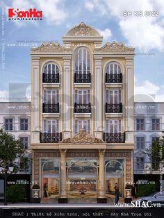 Mẫu thiết kế khách sạn đẹp mini kiểu Pháp rất được chủ đầu tư đánh giá cao về kiến trúc