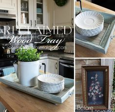 reclaimed wood tray, chalk paint, crafts, repurposing upcycling