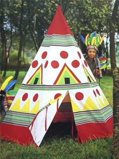 Wigwam Teepee Playhouse Play Tent Sewing Pattern