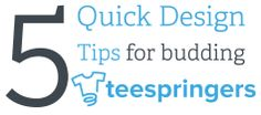 Did you know that black shirts sell better than white shirts? | Learn more from our Design Team in our latest blog post: '5 Quick Design Tips for Budding Teespringers'