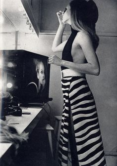 Sixties Yves Saint Laurent fashion photographed by Frank Horvat