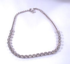 Vintage Clear Chunky Rhinestone Necklace