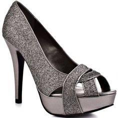 Pewter Heels....yes please! I will find a place and time to wear these!