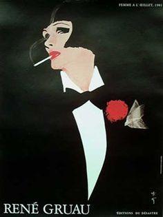 René Gruau, un dessinateur, affichiste et peintre connu dans le monde entier pour ses illustrations de mode et ses publicités restées dans la légende. Il représentera par ses dessins l'idée d'une élégance française.
