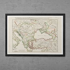 ANTIQUE RUSSIA & ITALY Map - Antique Map Print - Professional Reproduction - Vintage Map Wall Art Map Italy and Russia Travel Art Print