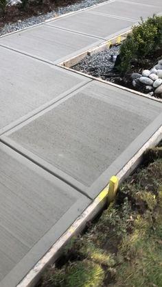 Concrete Driveways, Concrete Floors, Garden Paths, Lawn And Garden, Carport Designs, Garden Floor, Polished Concrete, Front Yard Landscaping, Landscape Design