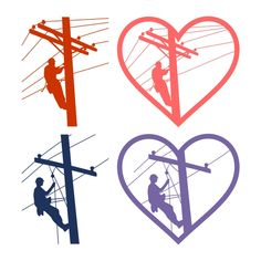 Lineman SVG Cuttble Design Lineman Love, Lineman Gifts, Power Lineman, Silhouette Cameo Projects, Silhouette Design, Lineman Tattoo, Cricut Iron On Vinyl, Bunny Face, Cutting Tables