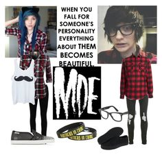 """Johnnie/Alex"" by nightmare-and-daydreams ❤ liked on Polyvore featuring beauty, Yves Saint Laurent, Hogan Rebel, Ray-Ban, Topman, Vans, Original Penguin and Hot Topic"