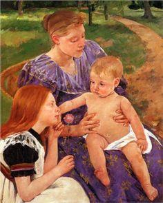 The Family - Mary Cassatt  Used in grammar lesson for teaching proper nouns (names)