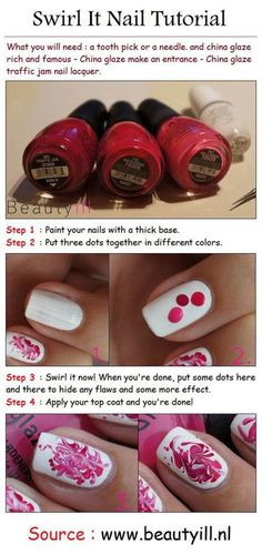 This swirl nail #tutorial is super cute and perfect for #beginners! #SoCutex #NailArt #Mani