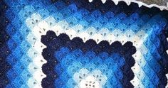 Beautiful shells blanket    This pattern is available as a free download...     Full post: Beautiful shells blanket