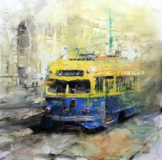 Mark Lague Urban Landscape, Landscape Art, Landscape Paintings, Pastel Landscape, Oil Paintings, Bus Art, Urban Painting, Canadian Painters, Cityscape Art