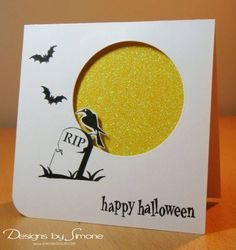 Midnight Moon Halloween Card