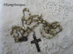 Old shell rosary for re-purpose
