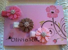 Flower+Felt+Clips+by+julieparrett+on+Etsy,+$10.00