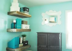I knew I wanted to make some shelves out of all these pallets I have.  I like these! :)