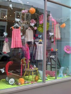 ... vibrant new look for our summer window display at our notting hill