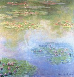 lillac-wine:    water lilies, claude monet