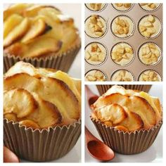 De lekkerste mini appelcakejes - appeltaart - De lekkerste mini appelcakejes Best Picture For pizza dough For Your Taste You are looking for so - Chocolate Pastry, Chocolate Desserts, Easy Cookie Recipes, Dessert Recipes, Mini Cakes, Cupcake Cakes, Delicious Desserts, Yummy Food, Ice Cream Cupcakes