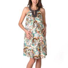 Momo Baby Women's Halter Neck Bib Maternity Dress