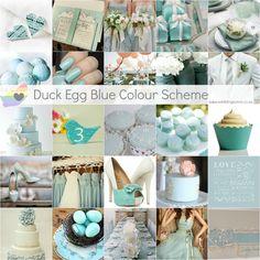 Duck Egg Blue Colour Scheme http://www.weddingscene.co.za/colour-schemes.html