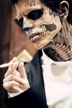 skeleton make up ideas for men More