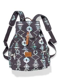 b0d988e545 Victoria s Secret pink gray Aztec backpack In great condition