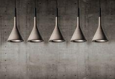 Aplomb Sospensione elongated multiple canopy 135cm 5 lamps