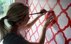 wall stencil tutorial