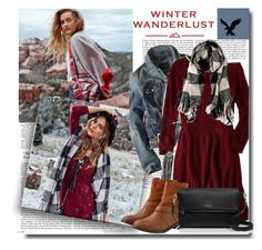 """""""Winter Wanderlust with American Eagle: Contest Entry"""" by kts-desilva ❤ liked on Polyvore featuring mode, American Eagle Outfitters, Kate Spade en aeostyle"""