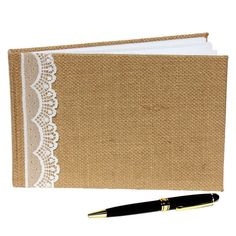 <div><div>Make your wedding a day to remember! A must-have on your special day, this burlap and ...