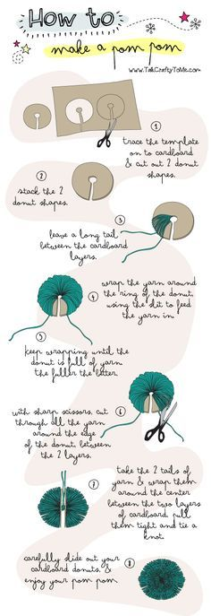 How To Make a Pom Pom - Download the free template @ http://www.talkcraftytome.com