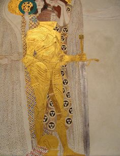 lonequixote:  The Golden Knight (detail of Beethoven Frieze)~Gustav Klimt