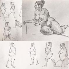 Tiny sketchbook figures from life of Bibi art model from life. From 1 minute to 15 or so. Graphite. #art #artista #artwork #sketching #sketching #lifedrawing #realism #lineart #kevinwueste #allaprima #drawing #draw #quicksketch #practicepracticepractice #pencilsketch #graphite #woman #figuredrawing #instaart #instagirl #instagood