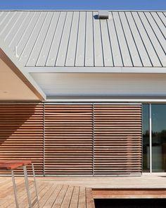 Porch House - modern - exterior - sliding shutters - kansas city - Hufft Projects